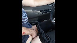 Wife cumming while she rocks out getting fingered.  Awesome roadtrip