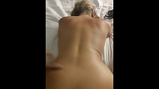 Blonde wife in doggystyle with bbc
