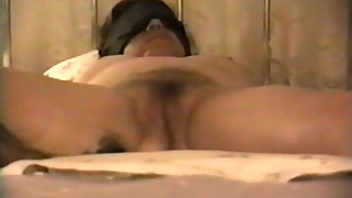 Wife blindfolded