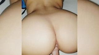 Big ass latina riding a cock