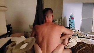 US Marine ties up wife and spanks her with belt and fucks her till she cums