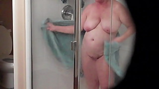 Mature Wife Shower Dry Off