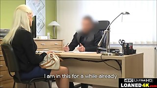Young Wife Fucks Loan Officer To Help Her Lingerie Business