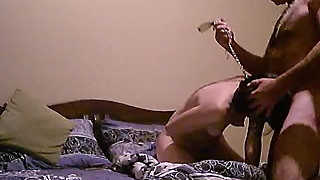 I have a wife in a collar blowjob 3