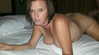 Husband films his cheating wife gets her pussy filled up with cum by ex