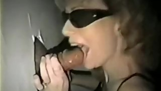 Vintage wife at gloryhole