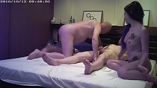 old cuckold watches young wife with big cock man