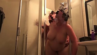 Slut wife wants a shower after food play, gets fucked instead