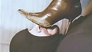 Licking clean my Wife'_s dirty boots 2