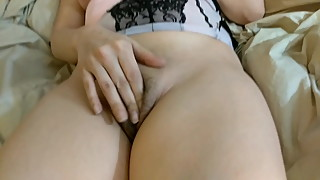 Slut wife in training in lingerie
