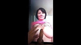 Cumtribute to a hot horny wife with a sweet tasty ass and juicy tits.