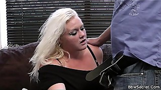 Husband cheating with sexy blonde plumper