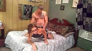Hot brunette wife smoking and getting pounded doggie style,huge facial...