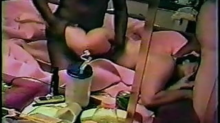 Amateur interracial cuckold with hairy mature wife