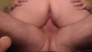 Wife on top riding my hard cock until I cum inside her moan