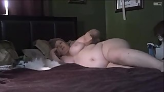 Finger fucking and fucking my fat wife 7-3-19