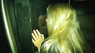 Blond Wife's Black Cock Gloryhole Experience