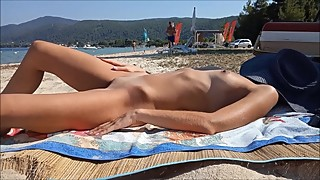 Real amateur wife naked in public beach