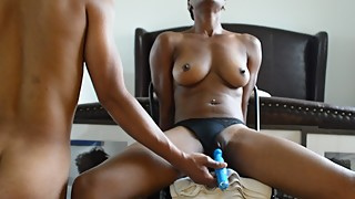 Husband Makes Cuffed Wife Cum on Vibrator