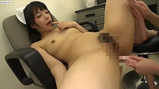 Wife was anal fucked by a perverted lesbian nurse