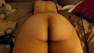 Latina Wife taking our crop and flogged on the ass