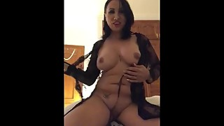 sexy big breasted wife strips and plays with toys