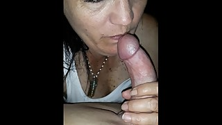Wife loves cock, best blowjob and swallows