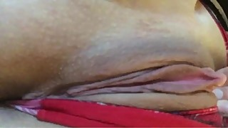 Big clit Hotwife up close pussy spread, teasing hubby at work!