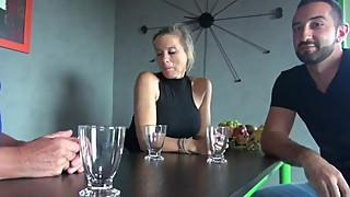 Sexy wife fucking stranger wives husband in the sweet house