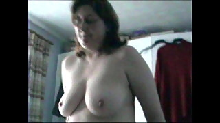 GILF Cowgirl - Large Natural tits boucing