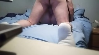 Wife gets both holes fucked and cum inside her