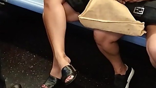 Sexy White Milf Legs and Feet in Leather Shoes